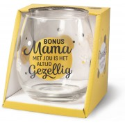 Wijn- waterglas - Bonus mama