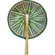 New Jaipur Handicraft Hukum Mere Aaka Foldable Woven Green Hand Fan(Pack of 2)