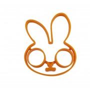 Naranja Desayuno Conejo De Silicona Huevo Frito Molde Panqueque Anillo Shaper Herramienta De Cocina Naranja