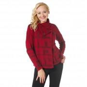 Laura T. Giacchina asimmetrica in maglia jacquard con filato con lana