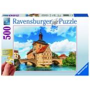 Ravensburger puzzle bamberg, bavaria, 500 piese