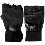 GENERIC Gym/Sports Leather Gloves (Color May Vary)