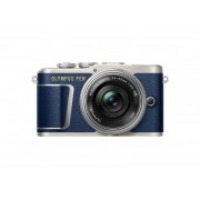 Olympus PEN E-PL9 ( син ) + обектив Olympus ZD Micro 14-42mm f/3.5-5.6 EZ Цифров фотоапарат 16.1 Mp