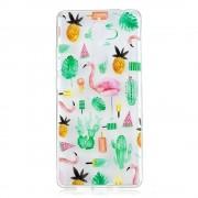 Shop4 - Nokia 7 Plus Hoesje - Zachte Back Case Flamingo's Transparant