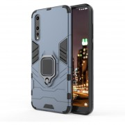 PC + TPU Resistente Estuche Protector Para Huawei P20 Pro, Con Anillo Magnético Titular (azul Marino)
