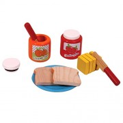 Bread and Jam Set - Wooden Toys - Brainsmith - Early Learning - Pretend Play - Imagination - Role Play toys - Story telling Activity - Creativity building - Birthday gift - Return Favour - Play and Learn - Child safe toys - 3 years and above