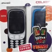 Celkon C410 C310 Dual Sim 1.3MP Camera Combo of 2 Mobiles(Buy 1 Get 1 Free)