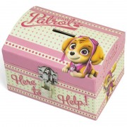 Paw Patrol roze kinder spaarpot/geldkistje 14 x 10 cm - Action products