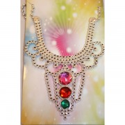Hercegnő nyaklánc, gömb, színes