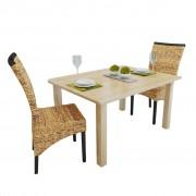 vidaXL Dining Chairs 2 pcs Abaca Brown