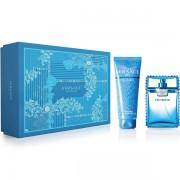 Versace Man Eau Fraiche Комплект (EDT 100ml + SG 150ml) за Мъже