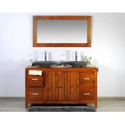 Saniteck Meuble teck salle de bain 140 baggi