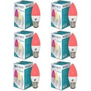 SWARA B22 3W RED CANDLE LED BULB - PACK OF 6