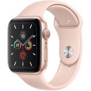 Apple Watch Series 5 44mm zlatý hliník s pískově růžovým sportovním řemínkem