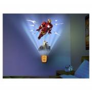 Lampara Wild Walls Marvel Iron Man Sonido Uncle Milton Nueva-Multicolor