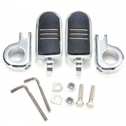 Harley 32mm Universal Foot Pegs with Mount Brackets For Harley Yamaha Kawasaki Suzuki Honda