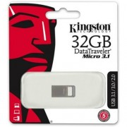 Pendrive, 32GB, USB 3.1, 100/15MB/s, KINGSTON Data Traveler Micro, ezüst (UK32GDTMC3)