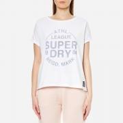 Superdry Women's Athletic Leisure T-Shirt - Optic White - L - White