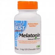 Doctor's Best, Melatonina, Aroma naturala de menta, 5 mg, 120 Tablete masticabile + TRANSPORT GRATUIT
