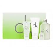Calvin Klein Ck One 200Ml Edt 200Ml + 100Ml Body Lotion + 100Ml Shower Gel + 15Ml Edt Unisex (Eau De Toilette)