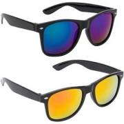 Adrian Wayfarer Sunglasses(Blue Yellow)