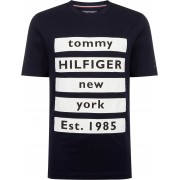 Tommy Hilfiger T-shirt Block Dunkelblau - Dunkelblau Größe XL