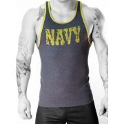 Whittall & Shon Navy Ribbed Tank Top T Shirt Navy 350