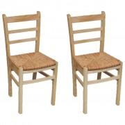 vidaXL Cadeiras de jantar 2 pcs madeira de pinho