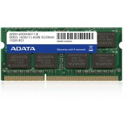 SODIMM LOW VOLTAGE ADATA DDR3/1600 4096M (ADDS1600W4G11-B)