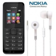 Nokia 105 / Good Condition/ Certified Refurbished ( 1 Year Warranty) with Earphone