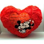 PragAart Deluxe Valentine Heart Plush Soft Pillow - Best Valentines Day Gift Home Decoration