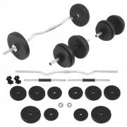 vidaXL Set de haltere și gantere 30 kg