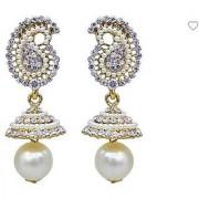 D G Jewellery Golden Partywear Stone Jhumki Earring