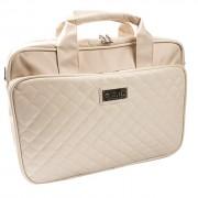 Krusell Avenyn Laptop Bag - кожена чанта за преносими компютри до 16 инча (бяла)
