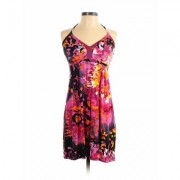 Express Casual Dress - A-Line: Pink Floral Dresses - Used - Size X-Small