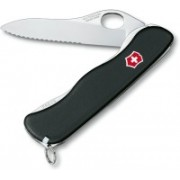Victorinox Lockblade Knife SENTINEL Black One Hand Way Edge Swiss Army Knife(Black)