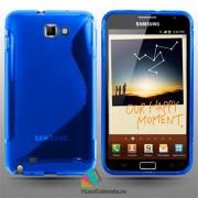 Husa Samsung N7000 Galaxy Note 1 Silicon Gel Tpu S-Line Albastra