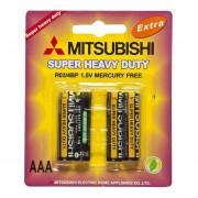 Paquete De 4 Pilas AAA Mitsubishi R03/4BP 1.5v Sin Mercurio