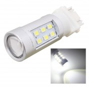 T25 4.2w 630lm Blanco Light Dual Wires 21 Led 2835 Smd Car Brake Light Daytime Running Light Bulb, Constant Current, Dc 12-24v