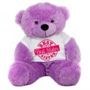 2 feet big purple teddy bear wearing special Best Sister T-shirt
