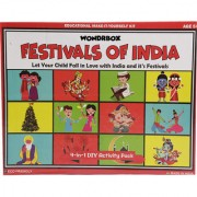 WondrBox educational toy - Festivals of India (4-in-1) learning games for 3-5 year old Multicolor