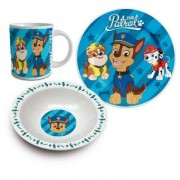 Paw Patrol (Chase, Marschall och Rubble), frukostset i porslin