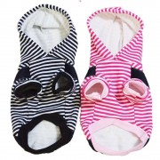 Meco Pet Dog Winter Cotton Clothes Warm Soft Straps Stripe Color Hoodie Coats With Hat In All Size