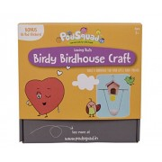 PodSquad Kids Activity Box : Birdy Birdhouse Craft – Educational Arts and Craft Kit - Make Your Own Birdhouse