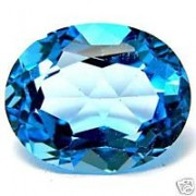 2-6 Carat Natural Blue Zircon Gemstone For Saturn A++++++++