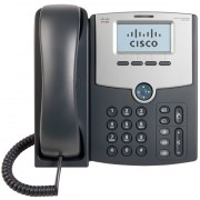 Phone, Cisco SPA512G, 1-Line, IP Phone with Display, PoE and Gigabit PC Port