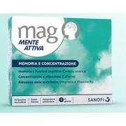 Sanofi Spa Mag Mente Attiva - Integratore Memoria E Concentrazione 20 Bustine Orosolubili Monodose