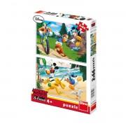 Dino puzzle 2x66 kom Mickey Mouse
