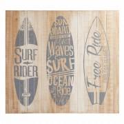 Maisons du Monde Testata da letto in pino e abete sbiancato 142 cm Surfing