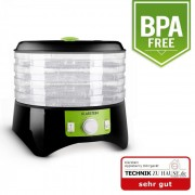 APPLEBERRY дехидратор изсушител на плодове 400W 4 нива баз BPA черно-зелено